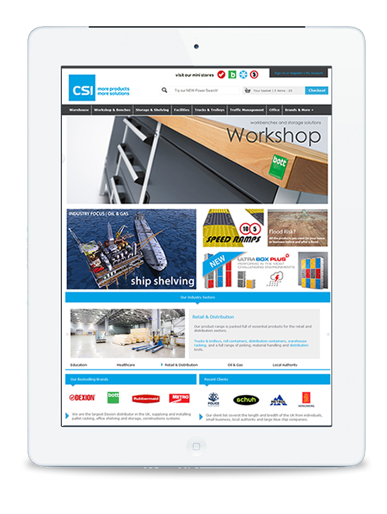 CSI Products website